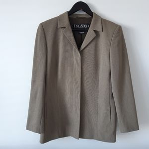 ESCADA Margaretha Ley 100% New Wool Button Blazer